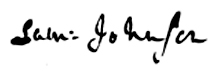 Samuel Johnson signature